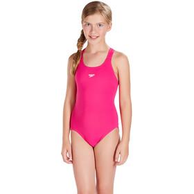 speedo Essential Endurance+ Medalist Swimsuit Mädchen electric pink